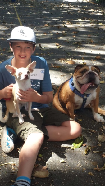 Kook with Peta's dogs Jan 2015