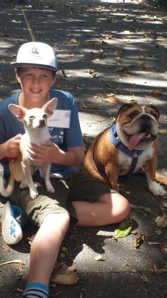Kook with Peta's dogs Jan 2015